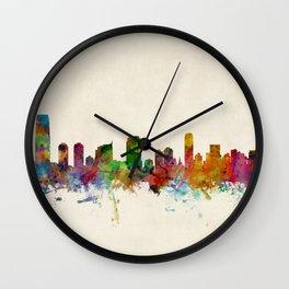 Jersey City New Jersey Skyline Wall Clock