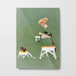 """C Coles Phillips """"Home Ties"""" Fadeaway Girl Metal Print"""