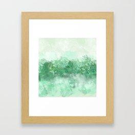Choppy Turquoise Ocean Water Framed Art Print