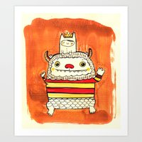 wild things Art Prints featuring Wild things by Maria Jose Da Luz