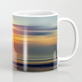 Bright Red - seascape sunset abstract Coffee Mug