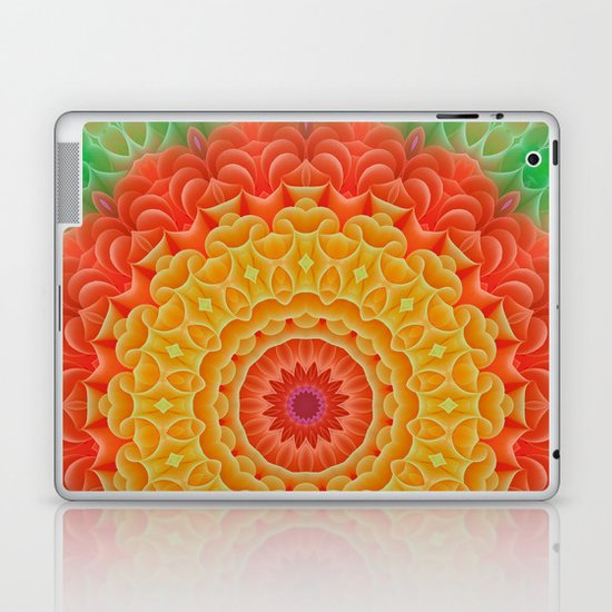Orange/Yellow/Green K-scope Laptop & iPad Skin