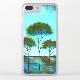 Blessings, Skinny Trees Art Clear iPhone Case