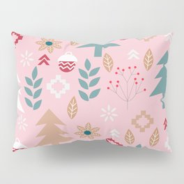 Cute Christmas in pink Pillow Sham
