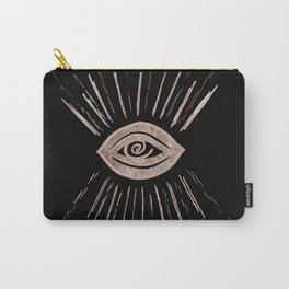 Evil Eye Rose Gold on Black #1 #drawing #decor #art #society6 Carry-All Pouch