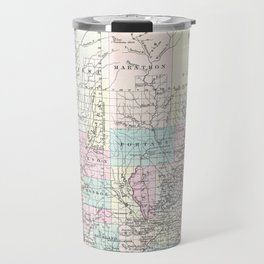 Vintage Map of Wisconsin (1855) Travel Mug
