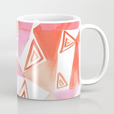 Geo Triangle Peach Coffee Mug