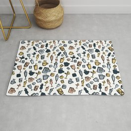 Beer Wine Cup Glass Sets Pattern Rug