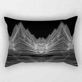 graphic line mountain black&white Rectangular Pillow