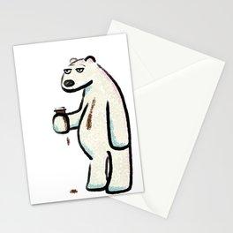 Coffee Polar Bear Stationery Cards