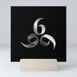 666- the number of the beast or angel symbol or devils number Mini Art Print