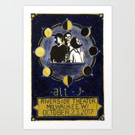 alt-j milwaukee poster Art Print