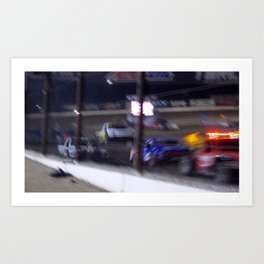 Faster then the Camera Art Print