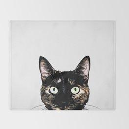 Peeking Cat Throw Blanket