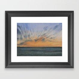 Sky and Ocean IV Framed Art Print