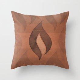 "Ray Bradbury ""Fahrenheit 451"" - Minimalist illustration literary design, bookish gift Throw Pillow"
