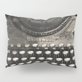 Underwood Typewriter Writer Author Journalist Poet Book Writing Poetry Bibliophile Library Word Art Photography Sepia  Pillow Sham
