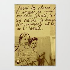 French Graffiti in Paris Canvas Print