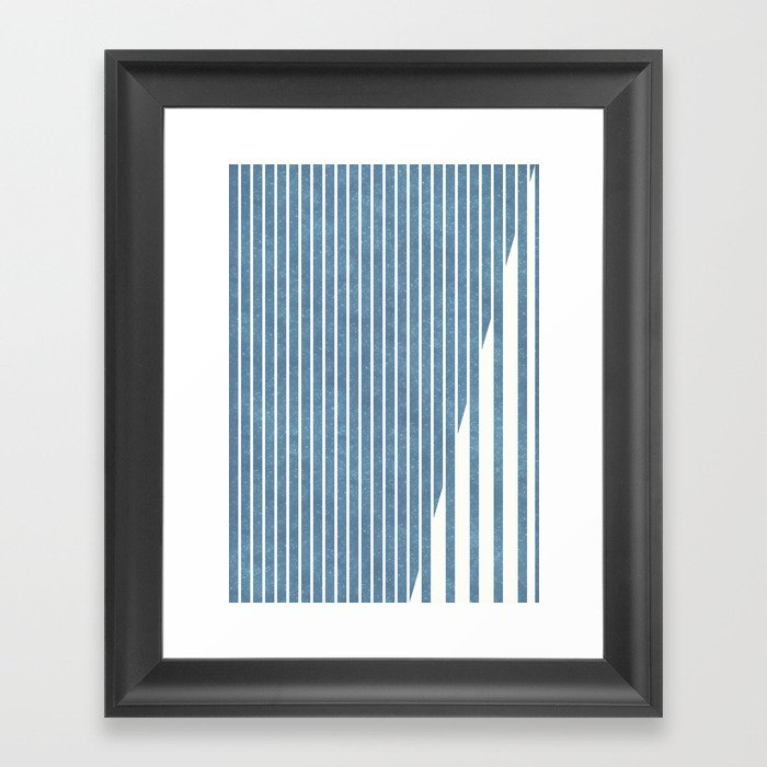 Star Dust Blue 01 Framed Art Print