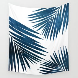 Indigo Palm Fronds Wall Tapestry