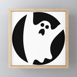 ghosty black Framed Mini Art Print