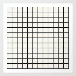 Black Grid on White Art Print