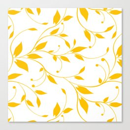 FLOWERY VINES | white yellow Canvas Print