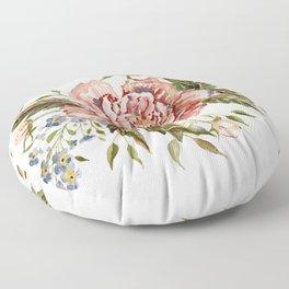 Pink Wild Rose Bouquet Floor Pillow