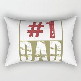 #1 dad Rectangular Pillow