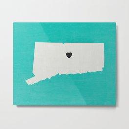 Connecticut Love Metal Print