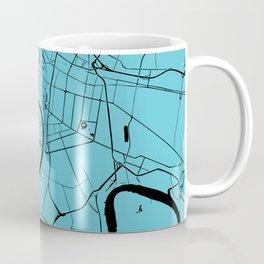 Bangkok Thailand Minimal Street Map - Turquoise and Black Coffee Mug