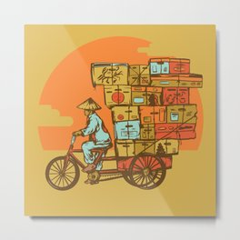 Bike Delivery Metal Print