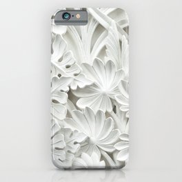 White leaf, plants background iPhone Case