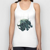 gravity Tank Tops featuring Gravity by Philipp Banken