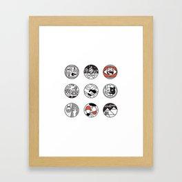 blurry icons Framed Art Print