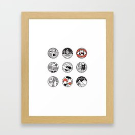 blurry icons Framed Art Print