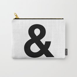 Ampersand Black and White Helvetica Typography Design Poster Home Decor Wall Art Scandinavian Decor Carry-All Pouch
