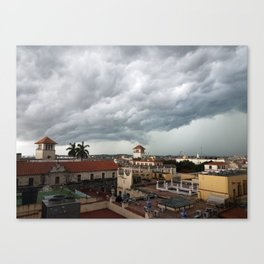 Storm Clouds over Havana Vieja Canvas Print