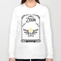 the legend of zelda Long Sleeve T-shirts featuring Zelda legend - Hyrulian Emblem by Art & Be