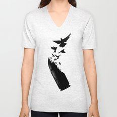 Bullet Birds Unisex V-Neck