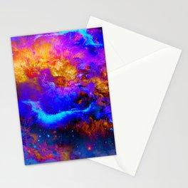 My Space - Galaxy - Universe - Manafold art Stationery Cards