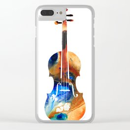 Violin Art By Sharon Cummings Clear iPhone Case