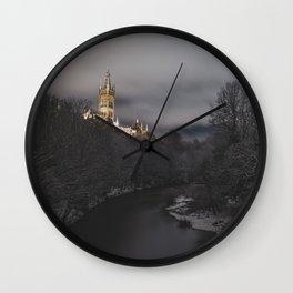 Winter in Glasgow Wall Clock