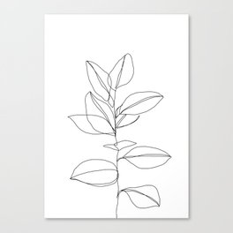 One line plant illustration - Dany Canvas Print