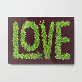 Succulent Love Metal Print