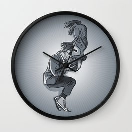 Cannes 2013 x Spielberg x ET (black and white) Wall Clock