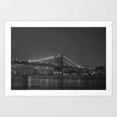 The Brooklyn Bridge Classic Art Print