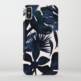 Tropical Leaves - Midnight iPhone Case