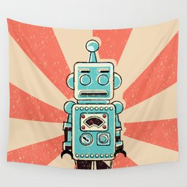 Retro Robot Wall Tapestry