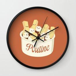 Poutine Wall Clock